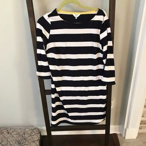 Petite Medium Navy & White stripe dress!